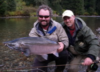 Coho - Angling Guide Dustin Kovacvich and guest