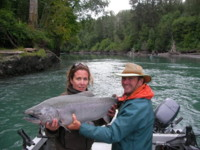 Skeena-Kalum River huge Chinook (King) Salmon - BOOK YOUR TRIP NOW
