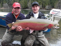 Skeena - Kalum River wild Steelhead estimated to weigh over 20-pounds