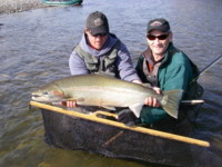 Spey Fly fishing for Steelhead in the Skeena River region