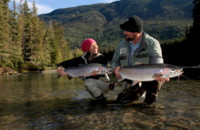 This episode features Fly Nation co-host April Vokey, along with guest hosts Andrea Charlton and head guide Dustin Kovacvich on a quest to catch the elusive West Coast steelhead, and do so on a dead drift dry fly!