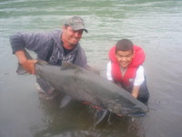 Greg and son Josh Buck Skeena River Chinook Salmon