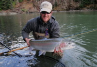 Chad Black spey fly fishing for Skeena River wild Steelhead